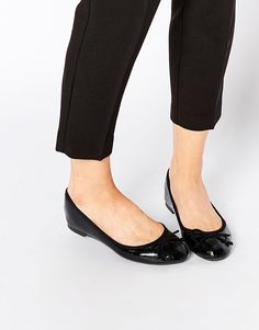 New+Look+Patent+Weave+Ballerina+Flat+Shoe