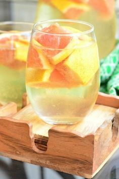 Sangria Recipes-Fruity Recipes for Sangria-FRESH GRAPEFRUIT SANGRIA. couple of sliced grapefruits will give this sweet sangria a tangy bite.Visit redbookmag.com for more sangria recipes.
