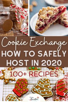 Host a safe cookie exchange with friends and family this year using these tips for this holiday tradition! 100  recipes for cookies, bars, fudge and desserts that are perfect for trading during your annual cookie exchange event. This December tradition lives on with these ideas for safe treat exchanging so you don't have to miss out on any of these Christmas holiday sweets! #Tradition #Cookies #Holiday #Christmas #Recipes #CookieExchange Holiday Cookie Recipes, Best Dessert Recipes, Holiday Cookies, Holiday Treats, Christmas Recipes, Fun Desserts, Christmas Holiday, Chocolate Chip Bars
