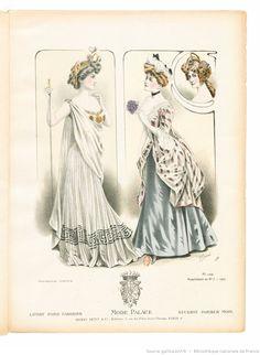Mode-palace. Album mensuel des dernières créations parisiennes | 1907-02…
