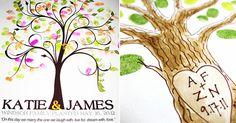 Toujours à la recherche de votre livre d'or? Si oui, c'est une bonne chose, vous pourrez en plus opter pour un arbre à empreinte.  Et si non, vous arrêterez surement vos recherches pour un arbre à empreinte!  Tutoriel et template à télécharger sur Mariée à tout prix!