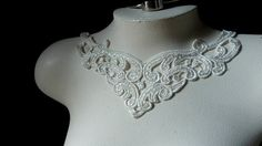 Lace Applique in Ivory Cream Venice Lace for by MaryNotMartha, $3.25
