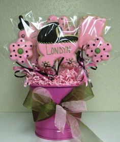It's A Girl! Pink Baby Cookie Bouquet