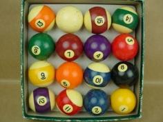 Billiard Balls 1940s Beautiful Vintage Bakelite  -- heartwarming: bermp, bermp. bermp, bermp