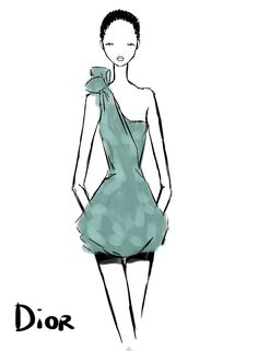 #Christian Dior Spring/Summer 2013 #Artist Rei Nadal draws from the Front Row