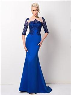 Ericdress Splendid Half-Sleeve Mermaid Long Evening Dress