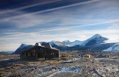 Slapen in prachtig design: De Rabothytta berghut in Noord-Noorwegen - | Want.nl