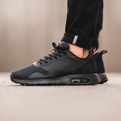 nike air max tavas black black metallic pewter
