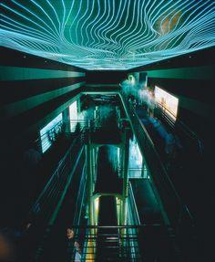 vuls: Tennesee Aquarium Chermayeff & Geismar, Inc., New York, New York, 1992 Architecture Drawings, Mass Effect, Stand Tall, Night Photography, Futuristic, Surrealism, Interior And Exterior, Concept Art, Aquarium