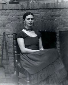 Frida Kahlo. Photo by Peter A. Juley & Son. Smithsonian.
