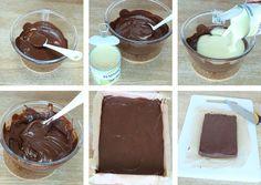 5-minuters fudge Vegan Ice Cream, Fudge, Chocolate Fondue, Goodies, Food And Drink, Pudding, Sweets, Snacks, Candy