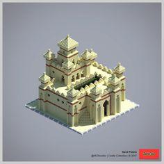 2017 Castle Collection - Minecraft World Château Minecraft, Minecraft Desert House, Construction Minecraft, Casa Medieval Minecraft, Minecraft Building Guide, Minecraft Survival, Minecraft Blueprints, Minecraft Crafts, Minecraft Designs