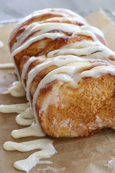 Pumpkin Cream Cheese Pull Apart Bread