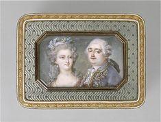 Portraits de Marie-Antoinette & Louis XVI sur les boites et tabatières, late 18th C by Adrien Vachette (1753-1839) (Louvre)