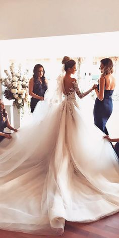 21 princess wedding dresses for the fairy tale celebration - # bridal dresses # the # for # m . 21 princess wedding dresses for the fairytale celebration - # Fairy tale celebration Princess Wedding Dresses, Dream Wedding Dresses, Bridal Dresses, Wedding Dress Long Train, Princess Bride Dress, Bridesmaid Dresses, Prettiest Wedding Dress, Ballgown Wedding Dress, Wedding Dress Cathedral Train