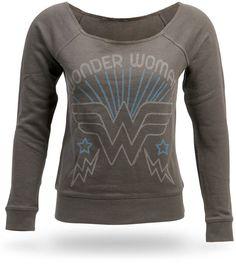 Vintage-style Wonder Woman sweater.