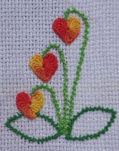 Detail 2 Of 2014 Creative Challenge Postcard By Elvi Mccann Jpg Creative Embroidery, Hand Embroidery Designs, Diy Embroidery, Embroidery Stitches, Embroidery Patterns, Cross Stitch Patterns, Embroidered Quilts, Embroidered Flowers, Different Stitches