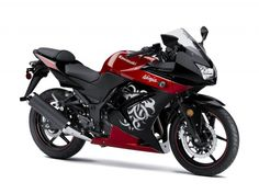red & black kawasaki ninja 250r. Only downside is that it's the 250, but it's definitely pretty!