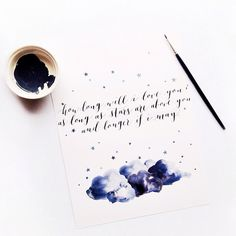 How Long Will I Love You?    Modern Calligraphy by Ffion McKeown