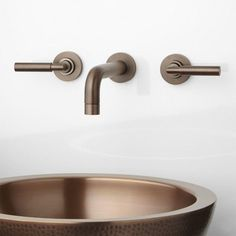 Triton Wall-Mount Bathroom Faucet - Lever Handles - Wall Mount Faucets - Bathroom Sink Faucets - Bathroom