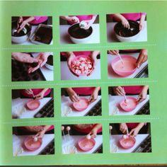 Aquí como la bolita se transforma,se cubre con chocolate o con una capa de azúcar de colores.