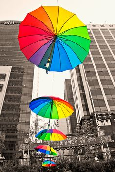 Guarda-chuva arco-íris / raibow umbrella