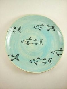Mullet Fish Plate by elizabethpottery on Etsy, $40.00