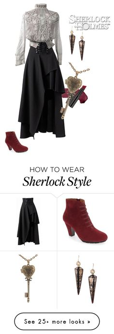 """""""Sherlock Holmes VS Jack the Ripper 1.0 {GenderBent! Adventures of Sherlock Holmes}"""" by sarah-natalie on Polyvore featuring L'Amour Des Pieds and L.A. Girl"""
