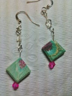Ruby fuschite, with flourite and swavorski accents on Etsy, $16.00