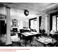 Interior: Morning-room at White's Club, St. James's Street