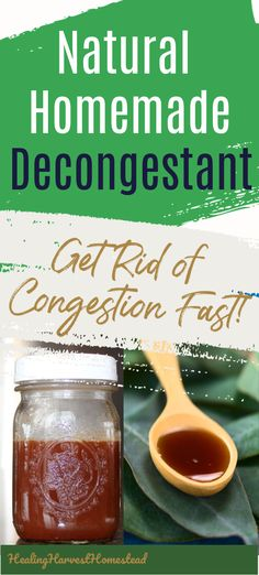 Need to get rid of a stuffy nose or congestion? This homemade decongestant recipe uses spices you have right in your own kitchen! It's easy, quick to make, and best of all, this tasty liquid will get rid of congestion fast. It's also healthy and healing for your body with no unpleasant side effects. #congestion #forstuffynoses #remedies #remedy #natural #coughremediesforchest #chest #coughremediesforkids #decongestant #howtogetridof #coldremedies #healingharvesthomestead Cough Remedies For Kids, Cold Remedies, Natural Health Remedies, Natural Healing, Herbal Remedies, Healing Herbs, Natural Home Remedies, Natural Remedies For Migraines