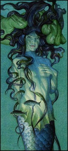 "Charles Santore for Hans Christian Andersen's ""The little Mermaid."" by carter flynn"