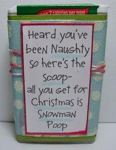 Christmas tic tacs Julia would love this saying ; 12 Days Of Christmas, Diy Christmas Gifts, Holiday Gifts, Christmas Holidays, Christmas Ideas, Xmas, Handmade Christmas, Christmas Decor, Christmas Wreaths