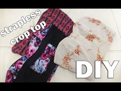 DIY strapless crop top doble vista || reversible || free pattern [Subtitled] - YouTube