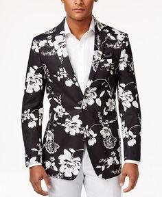 Tallia Men's Viggio Slim-Fit Floral-Print Sport Coat