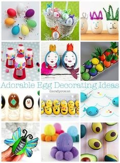 The Crafty Crow :: Adorable ideas for decorating Easter eggs!!