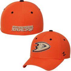 * Mens Anaheim Ducks Zephyr Orange Crosscheck Fitted Hat, Your Price: $25.99