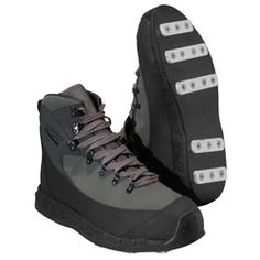 (Patagonia Rock Grip Wading Boot) Not quite as revolutionary as I had thought they would be, but they work just fine. Maybe a bit more stable than studs.