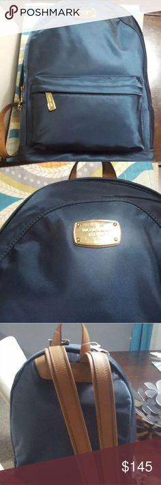 New navy blue MK backpack Beautiful Mk backpack , Navy blue,Firm price, follow me at Merc@ri App Bags Backpacks