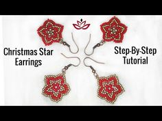 How to make DIY beaded earrings? Diy Beaded Earrings Tutorial, Beaded Earrings Patterns, Beading Patterns Free, Seed Bead Patterns, Earring Tutorial, Beading Tutorials, Bead Earrings, Peyote Patterns, Diy Christmas Earrings
