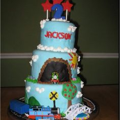 Thomas the Train 2nd Birthday cake