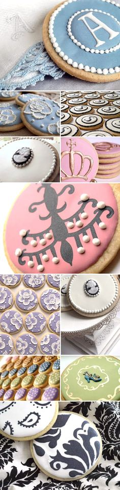 purse sugar cookies | custom decorated wedding sugar cookies in damask, monogram, cameo, and ...
