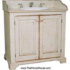 Vintage Country Savannah Bathroom Vanity with Sink & Faucet. | www.ThePeriodHouse.com