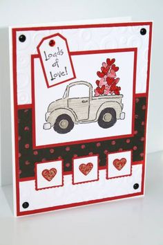 A Square Mojo 69 Valentine by juber - Cards and Paper Crafts at Splitcoaststampers Valentine Love Cards, Valentine Ideas, Homemade Greeting Cards, Valentine's Cards For Kids, Stampinup, Stamping Up Cards, Creative Cards, Cute Cards, Anniversary Cards