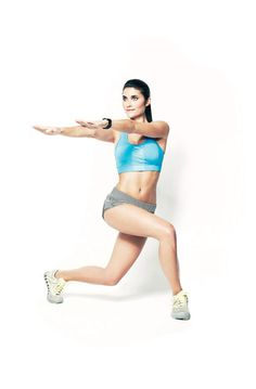 Toning workout move: Crossover lunge