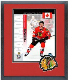"Jonathan Toews Blackhawks- 2014 Canada Olympic Team-11""x14"" Matted/Framed Photo"