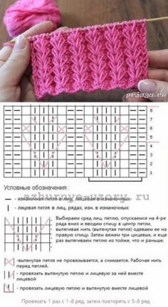 Strickmuster – вязание спицами – Knitting patterns, knitting designs, knitting for beginners. Lace Knitting Patterns, Knitting Stiches, Knitting Charts, Easy Knitting, Loom Knitting, Knitting Designs, Knitting Projects, Crochet Stitches, Stitch Patterns