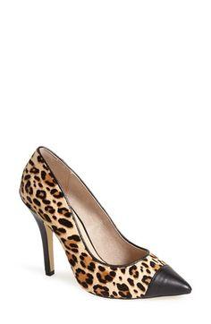 Menbur 'Boyced' Leopard Print Calf Hair Pump (Women) available at #Nordstrom