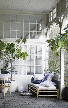 Veranda im Shabby-Chic
