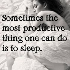 Article is about getting a good nights sleep, but statement seems fitting for Migraines
